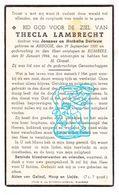 DP Thecla Lambrecht / Derieuw ° Ardooie 1860 † Rumbeke Roeselare 1944 - Images Religieuses