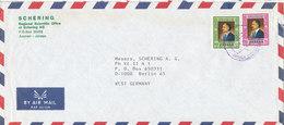 Jordan Air Mail Cover Sent To Germany 1983 - Jordan