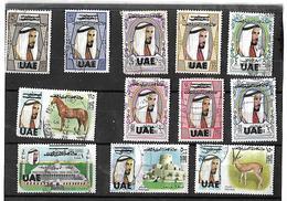 Abu Dhabi UAE 1972 Overprinted On Definitives USED Very Scarce! ANIMALS HORSES. SG 84/95 USED MNH Value Cat £1100 - Abu Dhabi