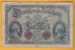 Allemagne - Billet De 5 Mark - 12 Août 1914 - [ 2] 1871-1918 : Impero Tedesco