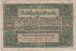 Allemagne - Billet De 10 Mark - 6 Février 1920 - 10 Mark