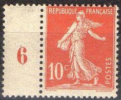 FRANCE ( POSTE ) : S&P N° 134  TIMBRE  NEUF  SANS  TRACE  DE  CHARNIERE ,  A VOIR . R 7 - 1906-38 Semeuse Camée
