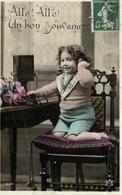 D 4524 - Fantaisie    Enfant Au Telephone - Scenes & Landscapes