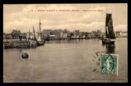 50 - SAINT-VAAST-LA-HOUGUE - PANORAMA DES QUAIS - Saint Vaast La Hougue