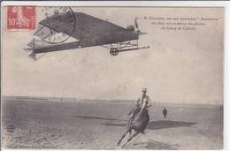 DEMANEST SUR MONOPLAN ANTOINETTE EN PEIN VOL AU DESSUS DES PLAINES DU CAMP DE CHALONS - 1914-1918: 1ère Guerre