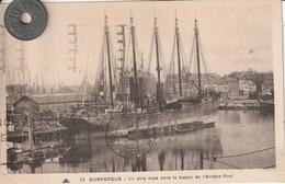 59- Très Belle Carte Postale Ancienne De DUNKERQUE  Un Cinq Mats Dans L'arrière Port - Dunkerque