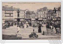50) CHERBOURG - Place Du Chateau Un Jour De Marché - Cherbourg