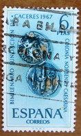 1967 SPAGNA Monete Dinaro Romano Anniversary Of Caceres - 6Pta  Usato - 1931-Oggi: 2. Rep. - ... Juan Carlos I
