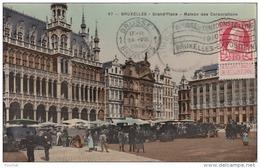 BRUXELLES - LA GRAND´ PLACE - MAISON DES CORPORATIONS - (+ FLAMME PUBLICITAIRE EXPOSITION ET OBLITÉRATION DE 1910 - Monuments, édifices