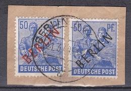 Gs_ Berlin - Mi.Nr. 13 + 30 - Gestempelt Used - Briefstück - Used Stamps