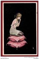 Illustration De F.Scheuermann -  Jolie Femme  Et  Souris - WSSB N° 6483 - 2 Scans - Künstlerkarten