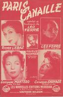 Partition De Léo FERRE Renée LEBAS Germaine MONTERO Catherine SAUVAGE  - Paris Canaille - Scores & Partitions