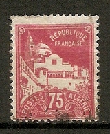 ALG - Yv.  N°  49   (o)  75c   Alger Cote  0,7 Euro BE - Algeria (1924-1962)