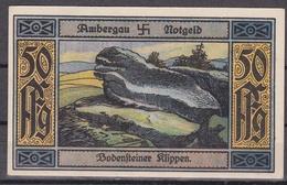 Notgeld - 50 Pfennig - Ambergau - Bodensteiner Klippen - Lokale Ausgaben