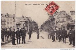 G28-35) RENNES (ILLE ET VILAINE)  AVENUE DE LA GARE  - (TRES ANIMEE - TRAMWAY) - Rennes