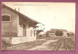 Cp Bourguignon Les La Charite La Gare - éditeur CLB - Autres Communes