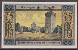 Notgeld - 75 Pfennig - Ambergau - Wohldenberg (Ruine Und Aussichtsturm) - Lokale Ausgaben