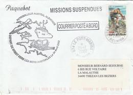 Patrouilleur ALBATROS Mers Australes Missions Suspendues Réunion Le Port Marine 29/7/2002 Cachets Au Verso Env 2 - Storia Postale