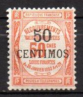 Col17  Colonie Maroc Taxe  N° 9 Neuf X MH Cote 100,00 Euros - Impuestos