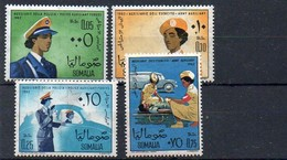 Somalia 1963 MiNr. 43, 44, 45, 46 **/ Mnh ; Weibliche Polizei - Somalie (1960-...)