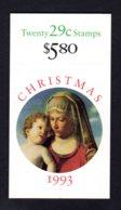 ETATS-UNIS 1993 - Carnet Yvert C 2193a - Scott #2790a - NEUF** MNH - Noël,La Vierge Et L'enfant - 1981-...