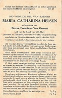 Tongerlo, Westerlo-Heultje, 1959, Maria Helsen, Van Gemert - Images Religieuses