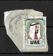 Overprint U.A.E. 1972 Used, On Abu Dhabi 5 Fills, UAE - Abu Dhabi