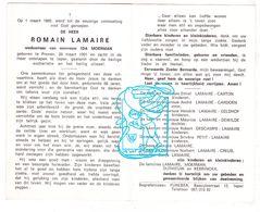 DP Romain Lamaire ° Proven Poperinge 1901† Ieper 1969 X I Moerman / Carton Geldhof Dewilde Petit Creus Duthiew Kerrinckx - Images Religieuses