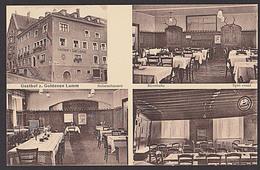 """Lindau Bodensee  Gasthof """"Zum Goldenen Lamm"""" Ak Um 1910 Mit 4 Abb. Bierstube Speisesaal - Lindau A. Bodensee"""