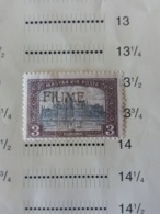 UNGHERIA HUNGARY MAGYARORSZÁG HONGRIE FIUME ITALIA 1918 Overprinted Postage Stamps From Hungary PERF 14 - Occupation 1ère Guerre Mondiale