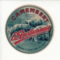 Etiquette De Fromage Camembert - Le Durbionnais - Thaon - Vosges. - Fromage