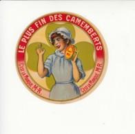 Etiquette De Petit Fromage Camembert. - Fromage