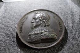 RARE,médaille En Bronze 1846,RARE,Sébastien La Ruelle,Liège,signé C.Jehotte F., Diamètre 45 Mm. - Royal / Of Nobility