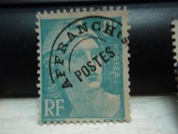 Timbre Gandon 8f Affranchissement Postes Tellier : 810 - Oblitérés