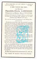 DP Pharaïlde E. Lahousse ° Kortrijk 1884 † 1941 X Marcel Vuylsteke - Images Religieuses