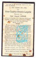 DP Sophie A. Lagatie ° Krombeke Poperinge 1865 † Ieper 1942 X Aug. Vienne - Images Religieuses