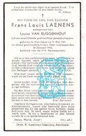 DP Frans Louis Laenens ° Merchtem 1869 † 1946 X Louisa Van Buggenhout - Images Religieuses