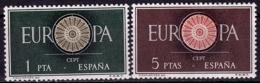 Espagne - Europa CEPT 1960 - Yvert Nr. 975/976 - Michel Nr. 1189/1190  ** - 1960
