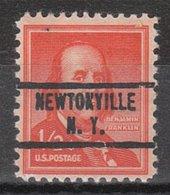 USA Precancel Vorausentwertung Preo, Locals New York, Newtonville 734 - Vereinigte Staaten