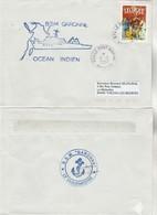 BSM GARONNE Mayotte Réunion Le Port Marine 6/8/2002 - Cachet Verso - Enveloppe 2 - Storia Postale