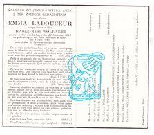 DP Emma Ladouceur ° Sint-Jan 1865 † Ieper 1943 X H. Wollaert / Debever Vermeersch Depuydt Grimonprez Wouters Parret Tyry - Images Religieuses