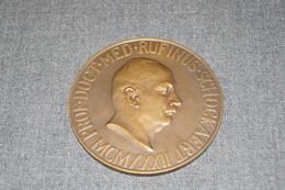 Médaille En Bronze,Université De Louvain,Professeur,docteur,Rufinus Schockaert,signé Ant. Jorissen,diamètre 70 Mm. - Professionnels / De Société