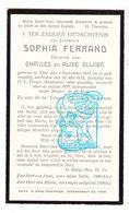 DP Sophia Ferrand / Allaer ° Ieper 1873 † 1932 - Images Religieuses