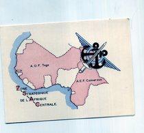 CARTE DE VOEUX  ZONE STRATEGIQUE DE L AFRIQUE CENTRALE - Régiments