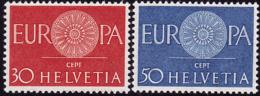 Suisse - Europa CEPT 1960   - Yvert Nr. 666/667 - Michel Nr. 720/721  ** - 1960