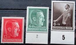 DR Hitler Sondermarken Mi.Nr. 664,672,694 Postfrisch ** M€ 53,-- - Non Classificati