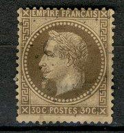 France 1863-70 - Oblitéré - Scanné Recto Verso - Y&T N° 30 - Napoléon III - Empire Français Lauré, 30c Brun - 1863-1870 Napoléon III Lauré