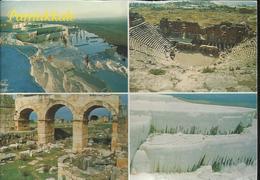 Pamukkale - Denizli - Türkiye - Travertines - Multivue - Voyagée Vers La France, Timbre De 1998, 125.000 - Turquie