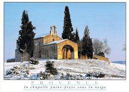 13 - Eygalières - La Chapelle Saint Sixte Sous La Neige - France