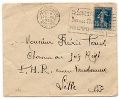 France Somme Amiens Oblitération Machine Flier Illustrée Du 20/12/1922 Sur N° 140 Y. Et T. - Poststempel (Briefe)